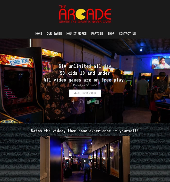The Arcade Website